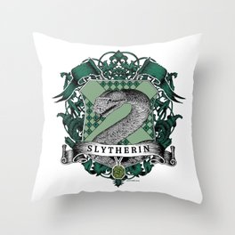 Slytherin Color Crest Throw Pillow