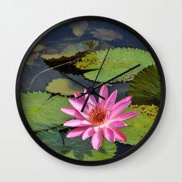 Water Lily, VI Wall Clock