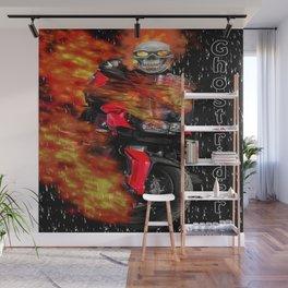 Fire Man Ghost Rider Wall Mural