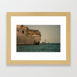 Summer Dive Framed Art Print