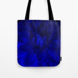 Royal Blue Fractal dahlia Tote Bag
