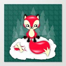 Fox's Christmas Dinner Canvas Print