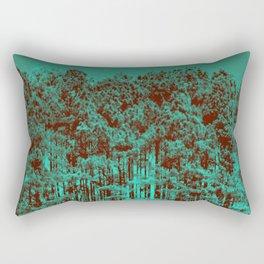 Minty Green Forest Rectangular Pillow