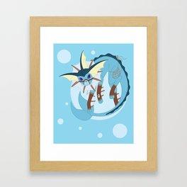 Water Steampunk Fox Framed Art Print