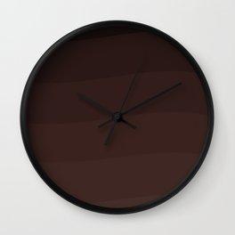 Chocolate waves. Wall Clock