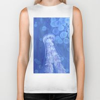 jelly fish Biker Tanks featuring Jelly Fish by Lise Dumas Richard