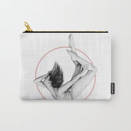 "Pink Circle - ""FALLING"" by A.Grahovsky Carry-All Pouch"