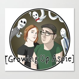 Growing Up Aspie - Kandace and Nathan Canvas Print