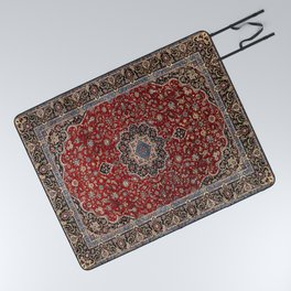 N63 - Red Heritage Oriental Traditional Moroccan Style Artwork Picnic Blanket