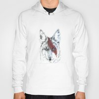 coyote Hoodies featuring Coyote III by Susana Miranda ilustración