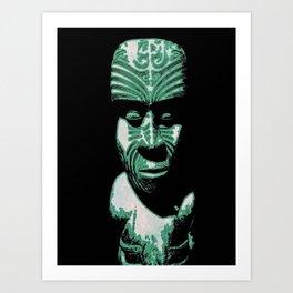 Maori ancestor Art Print