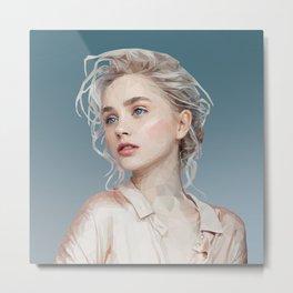 Woman in pastel Metal Print
