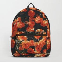 Orange flower fleurs Backpack