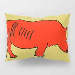 The Crimson Rhinocerous Pillow Sham