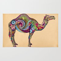 camel Area & Throw Rugs featuring Camel by Green Girl Canvas
