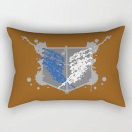 Survey Corps Paint Splat Rectangular Pillow