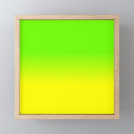 Neon Green and Neon Yellow Ombré  Shade Color Fade Framed Mini Art Print