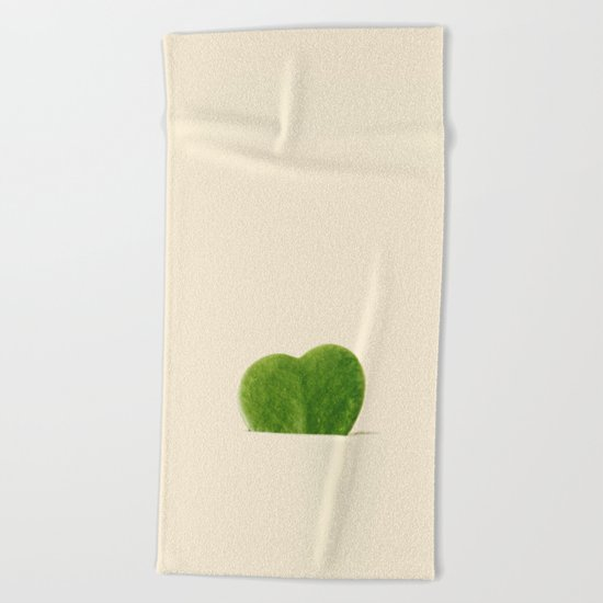 cactus heart Beach Towel