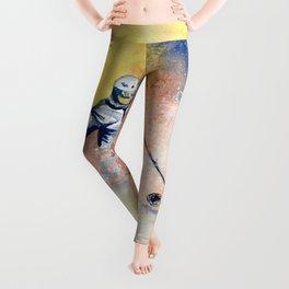 Colorful Skiing Art 2 Leggings