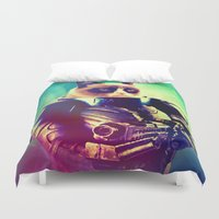 grumpy Duvet Covers featuring GRUMPY STRAX by Chewgowski