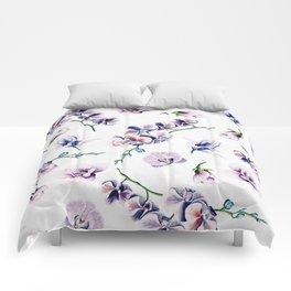 Lavender Blossom Floral Pattern Comforters