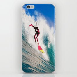 Corky's surfing iPhone Skin