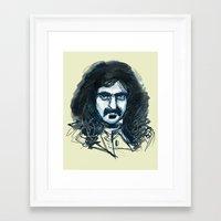 zappa Framed Art Prints featuring Zappa by Katie Bumdesu Whittle