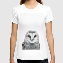 Black and white Owl T-shirt