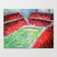 ohio state Canvas Prints featuring Ohio State Buckeyes by Emily Kenney
