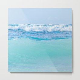 Kapukaulua Pure Blue Surf Metal Print