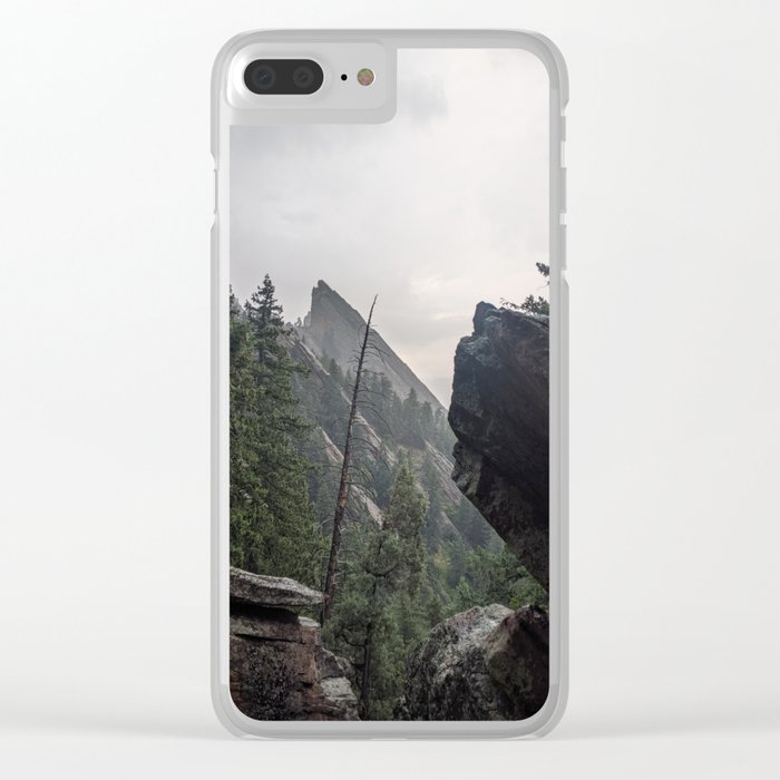 Flat Iron 1 During Rainstorm Clear iPhone Case