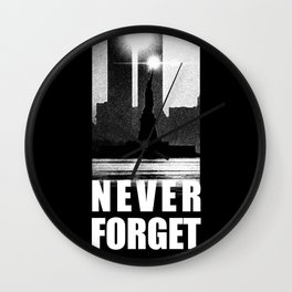 09,11 - September 11 attacks - New York - World Trade Center Wall Clock