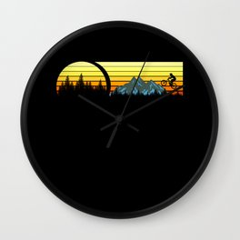 MOUNTAINBIKE RETRO Funny Cycling Gift Bicycle Rider Wall Clock