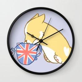 Cuppa Corgi Tea Wall Clock