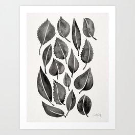 Black Leaves Art Print