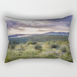 Amazing sunset over the Ciovo island, Croatia Rectangular Pillow