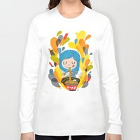 ramen Long Sleeve T-shirts featuring I love ramen by inkdesigner