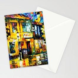 Tardis Art Tree Starry Night Stationery Cards