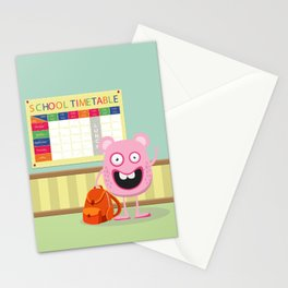 Monster School Stationery Cards