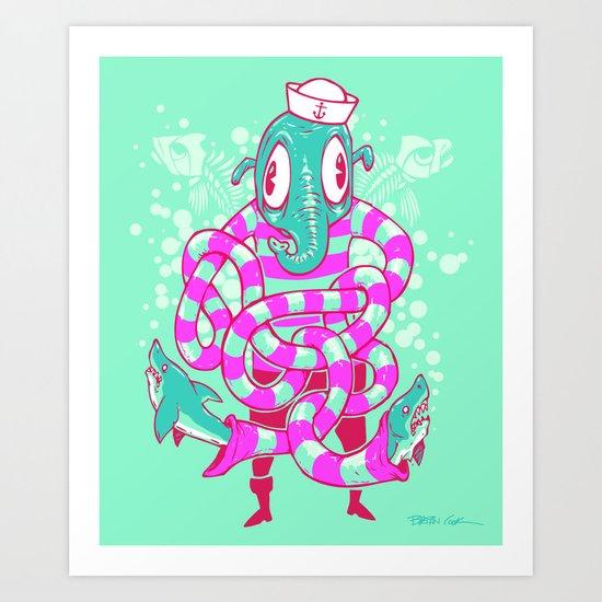 Shark Hands! Art Print