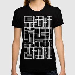 Map Lines Black T-shirt