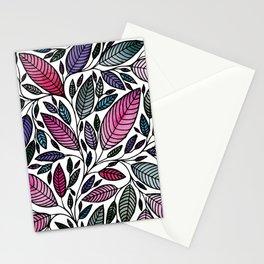 Botanical Floral Leaf Illustration Stationery Cards