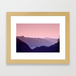 The Song of the Mountains Framed Art Print