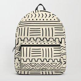 Mud Cloth on Cream Backpack