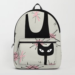 MID-CENTURY ATOMIC PINK CATS Backpack