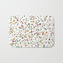 Bees in spring Bath Mat