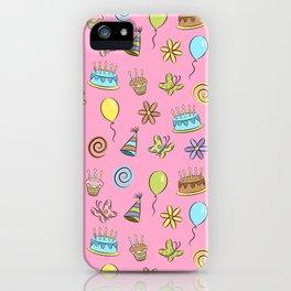 """Birthday"" (Pink) iPhone Case"