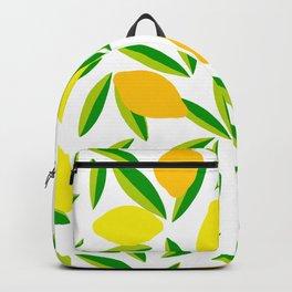 Pop Lemon & green Pattern #summervibes Backpack