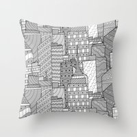 skyline Throw Pillows featuring Skyline  by  Steve Wade ( Swade)