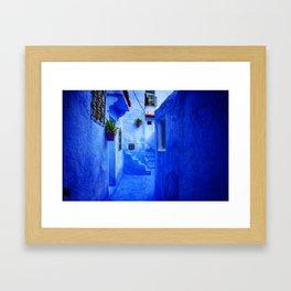 Blue Pearl Chefchaouen - Backyard Framed Art Print